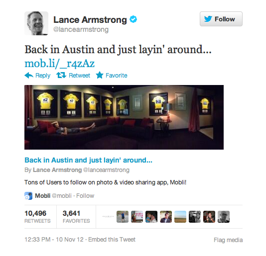 lance armstrong twitter douche 1
