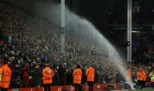 Sprinkler Fail: Liverpool Supporters Get Soaked By Unexpected Shower (GIF)