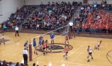 Unbelievable: Volleyball Hits Player in the Face, Then Ricochets and Trips Kid Walking to the Bathroom (Video)