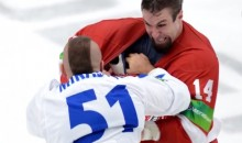 NHL Lockout Results In Another Epic Fight Between Legendary Hockey Enforcers Jon Mirasty and Trevor Gillies (Video)