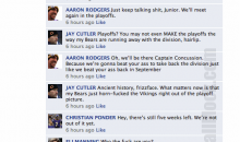 NFL Quarterbacks Conversation On Facebook (Week 12)