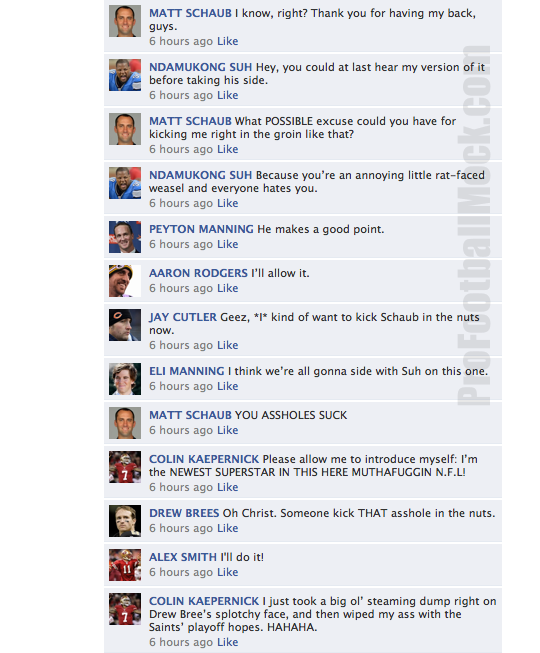 nfl qb facebook convo week 12 4