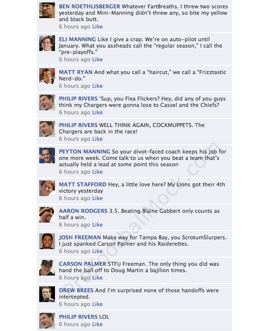 NFL QBs On Facebook: The MVP Vote