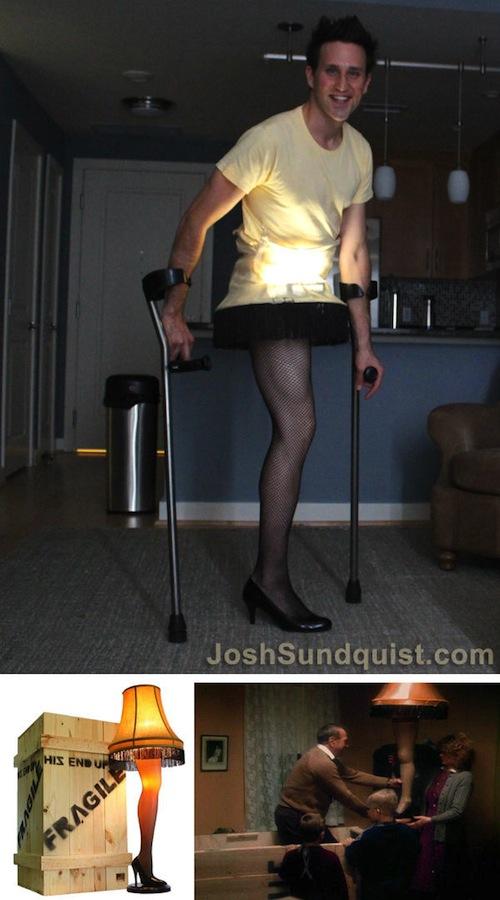 paralympian josh sundqust leg lamp halloween costume 2012