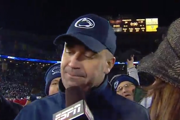 penn state coach bill o'brien a bunch of fuckers