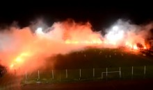 Amazing Pyrotechnics Display Encircles Two Romanian Soccer Teams in Flames and Smoke (Video)