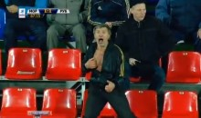 This Russian Soccer Fan Is Crazy (Video)