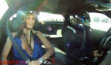 A Busty Female In A Drifting Corvette Is Quite The Sight (Video)