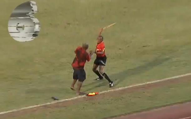 soccer fan attacks linesman