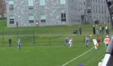 Female Soccer Play Takes Two Throw-Ins To The Face (Video)
