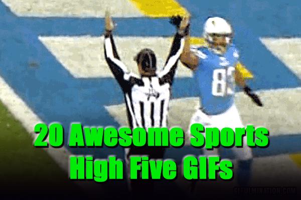sports high five gifs