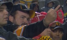 Angry Steelers Flips Off The Referees (GIF)