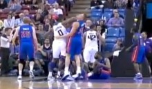 Thomas Robinson and His Elbow Made Their MMA Debut During the Sacramento Kings Game Last Night (Video)