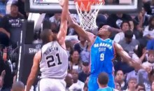 Tim Duncan Posterized Serge Ibaka Last Night (Video)