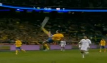Zlatan Ibrahimovic Just Scored a Ridiculous Bicycle Kick Goal (Video)