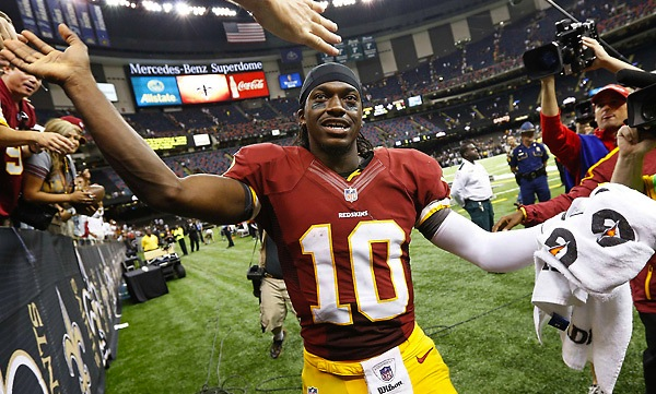 1 Robert Griffin III - top best selling NFL jerseys