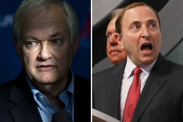1 donald fehr and gary bettman nhl lockout - athletes on santa's naught list 2012