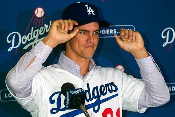3 zack greinke dodgers - biggest baseball contracts of 2012