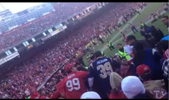 49ers rams fight