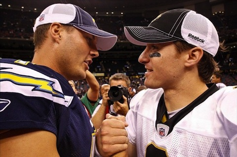 9 phillip rivers and drew brees (quarterback controversies)