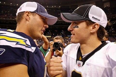 9 phillip rivers and drew brees (quarterback controversies)