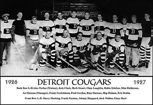 Detroit Cougars hockey - teams who changed names not cities