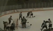 Awesome Line Brawl Breaks Out In Superior International Junior Hockey League Game (Video)