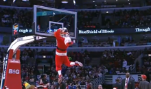 Dunking Santa Claus Smacks His Beard on the Rim (Video)