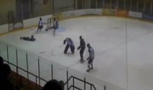 Check Out This Crazy Hockey Collision Between a Player and a Goalie (Video)