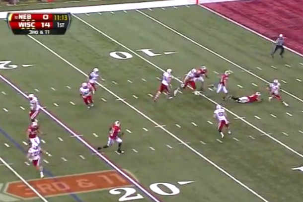 amazing touchdown big 10 championship game