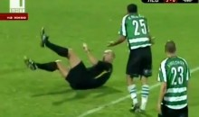 Bulgarian Soccer Player Suspended 6 Games for Body Checking Referee (Video)