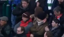 Celtic Fan Hit in the Face with Soccer Ball (Video)