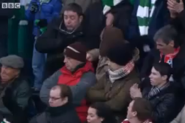 celtic fan hit in head loses glasses
