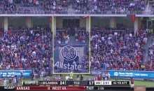 Crazy Field-Goal Attempt Starts Wide Right, Ends Wide Left (GIF)