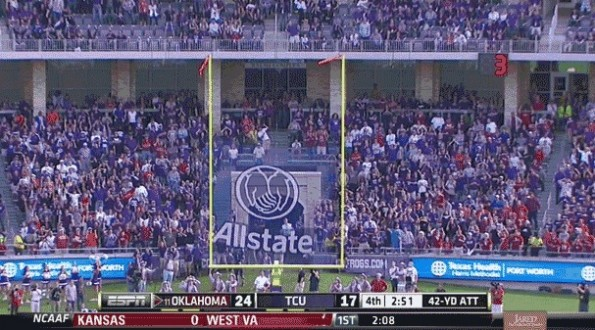 crazy missed field goal