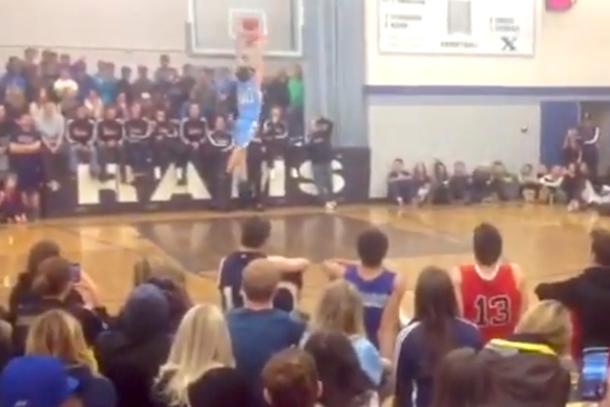 high school dunk fail