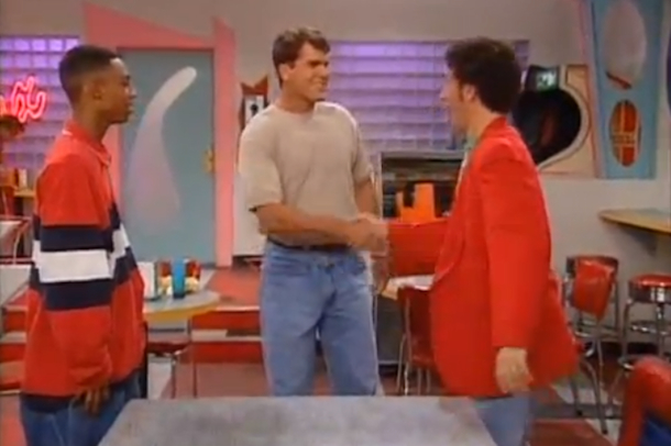 jim harbaugh saved by the bell cameo