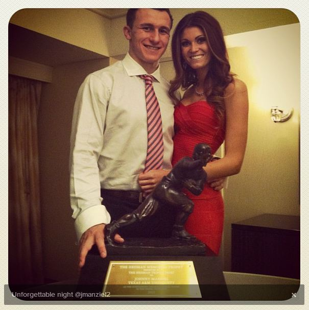 johnny manziel girlfriend with heisman