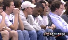 Johnny Manziel Was Sitting Courtside at the Mavs-Heat Game Last Night (Video)