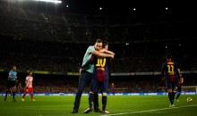 Fan Runs Onto Field to Give Lionel Messi a Hug (Video)