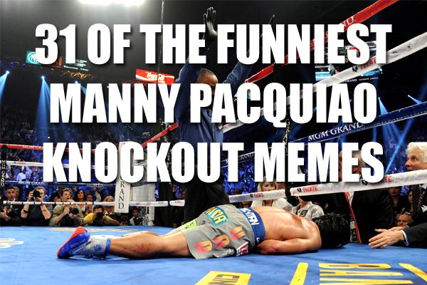 manny pacquiao knockout meme