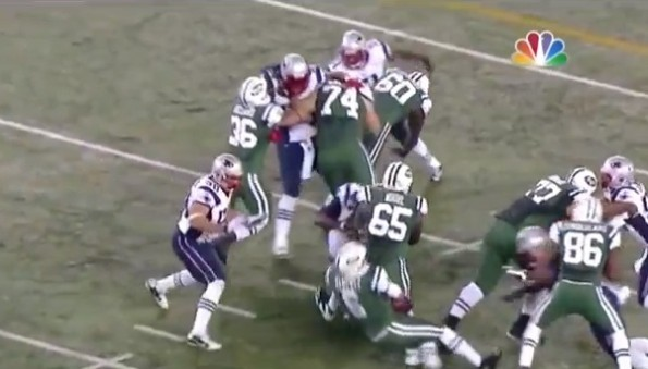 mark sanchez butt fumble