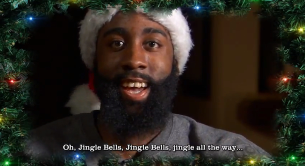 nba stars singing jingle bells