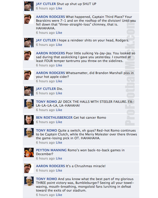 nfl quarterback convo facebook week 15
