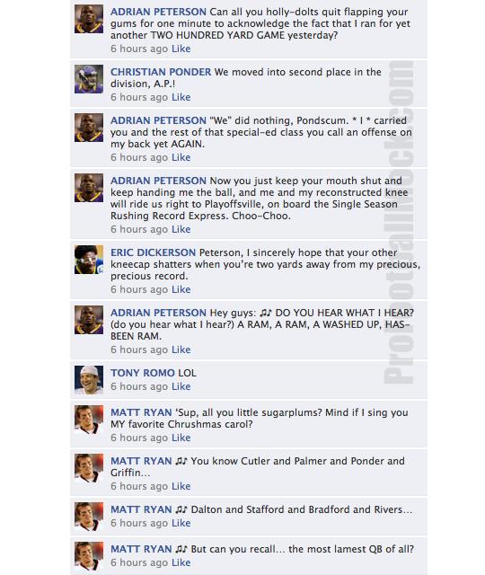 nfl quarterback convo facebook week 15
