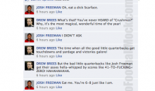 NFL Quarterbacks Conversation On Facebook (Week 15)