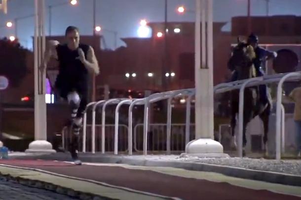oscar pistorious racing a horse in qatar