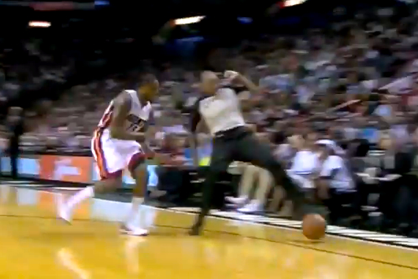 ref keeps ball in bounds for miami heat