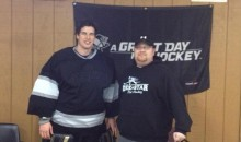 Sidney Crosby Plays Goalie for Local Ball Hockey Team