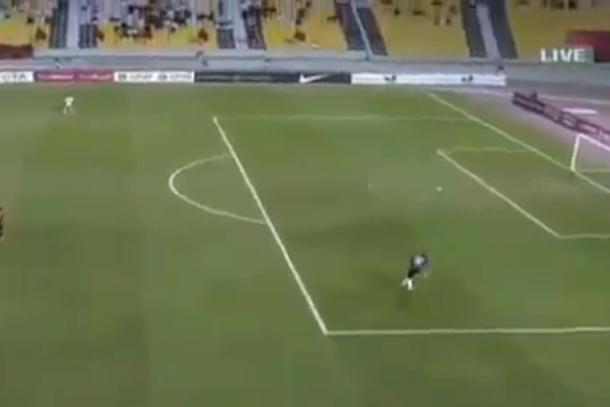 soccer free kick fail